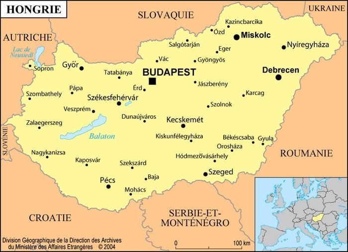 Carte du lac Balaton
