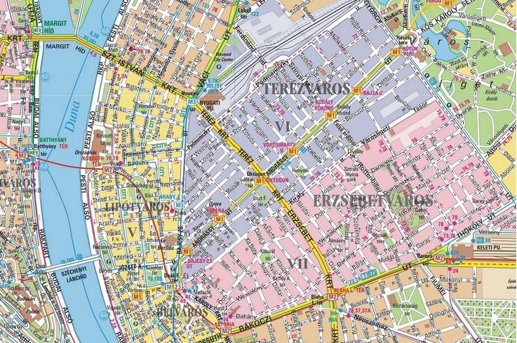 Les quartiers du centre ville de Budapest