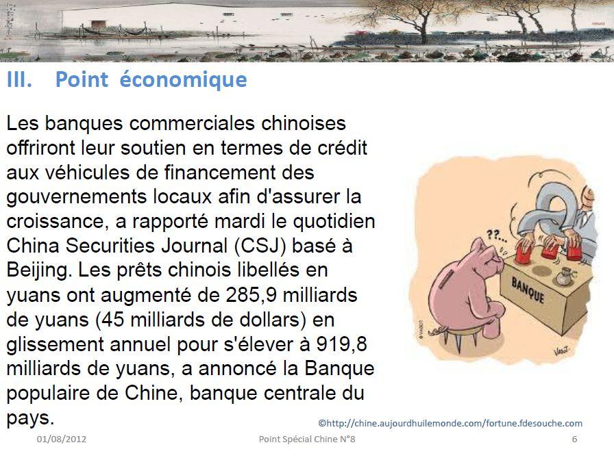Point économique en Chine