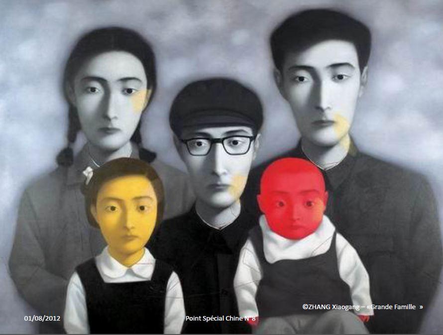 """Peinture de la """"grande famille"""" / Auteur Zhang Xiaogang"""