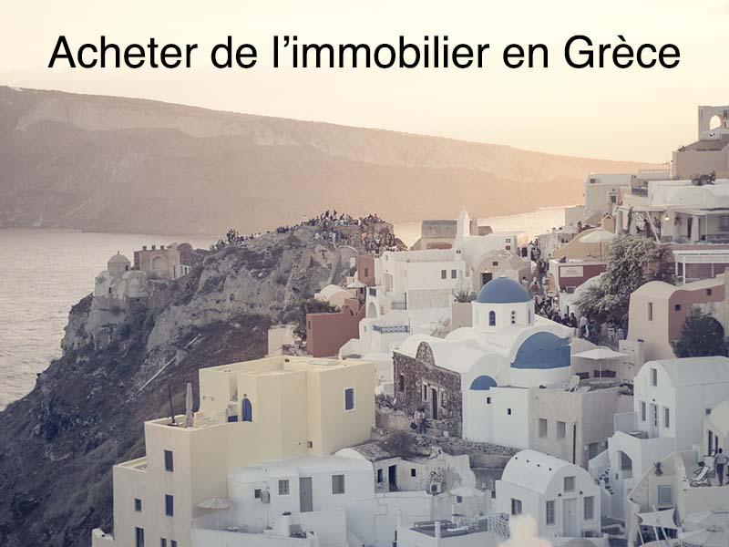 achat immobilier Grèce