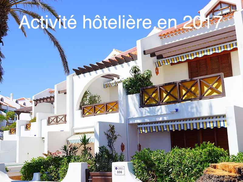 activité hôtelière en 2017