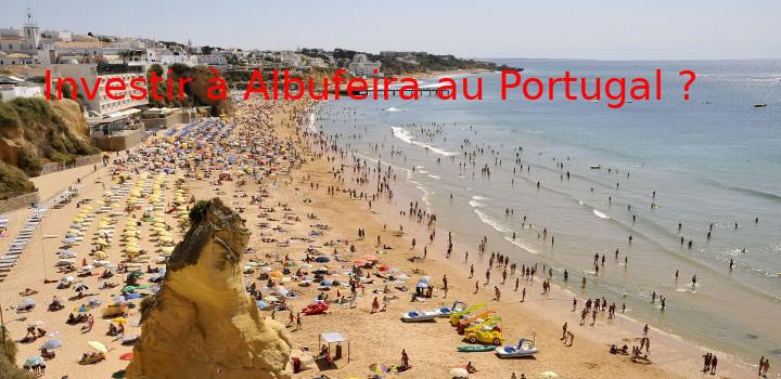 Une plage à Albufeira