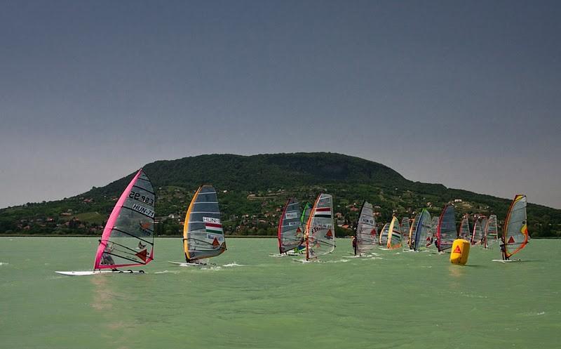 Compétition de windsurf Balaton