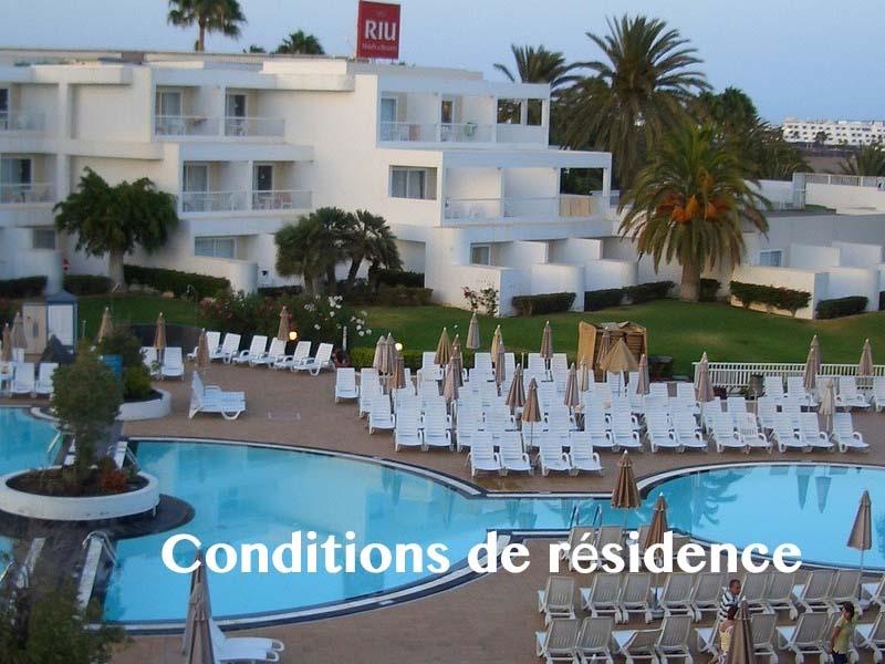 conditions de résidence fuerteventura