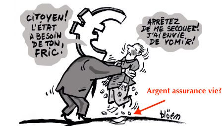 dette France assurance vie