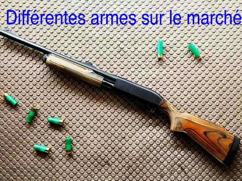 différentes armes