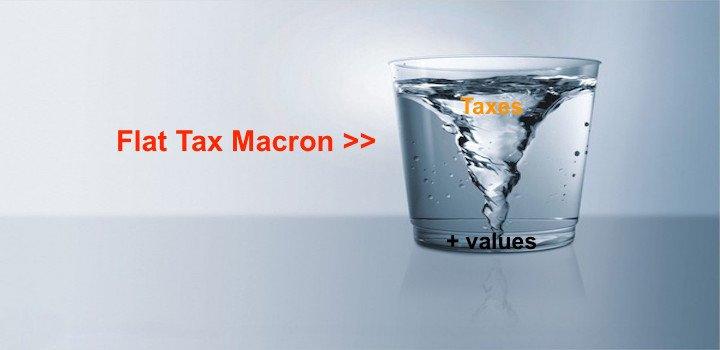 Flat tax Macron pour qui, pourquoi, pour rien?
