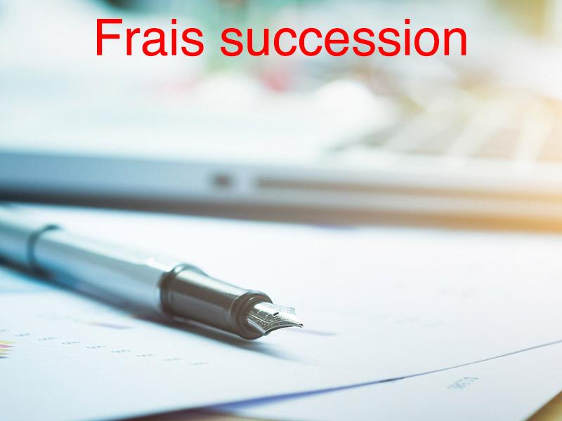 succession frais