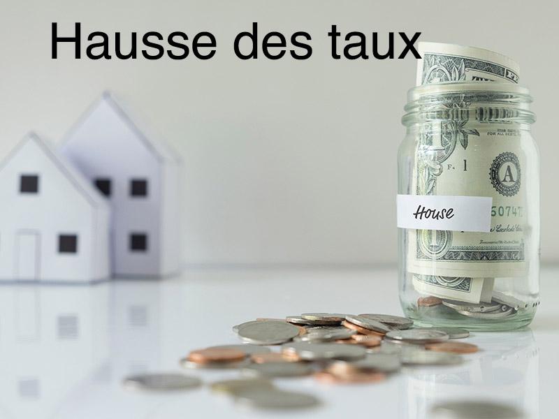 hausse des taux immobilier