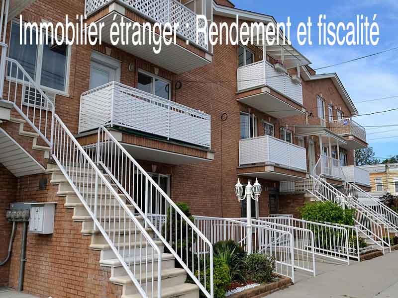immobilier étranger rendement fiscalité