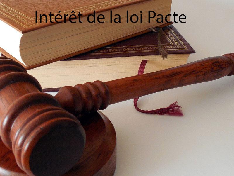 intérêt de la loi pacte