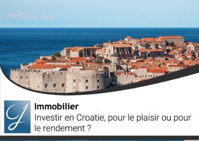 Investir en Croatie pour le plaisir ou pour le rendement?