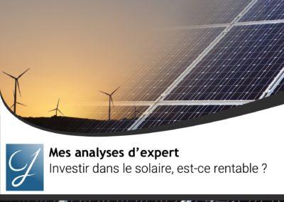 Investir dans le solaire est-ce rentable?
