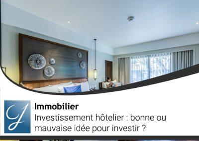Investissement hôtelier bonne ou mauvaise idée pour investir?