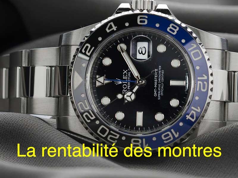 la rentabilité des montres