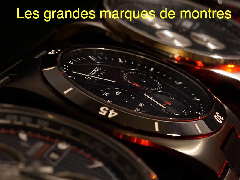 les grandes marques de montres