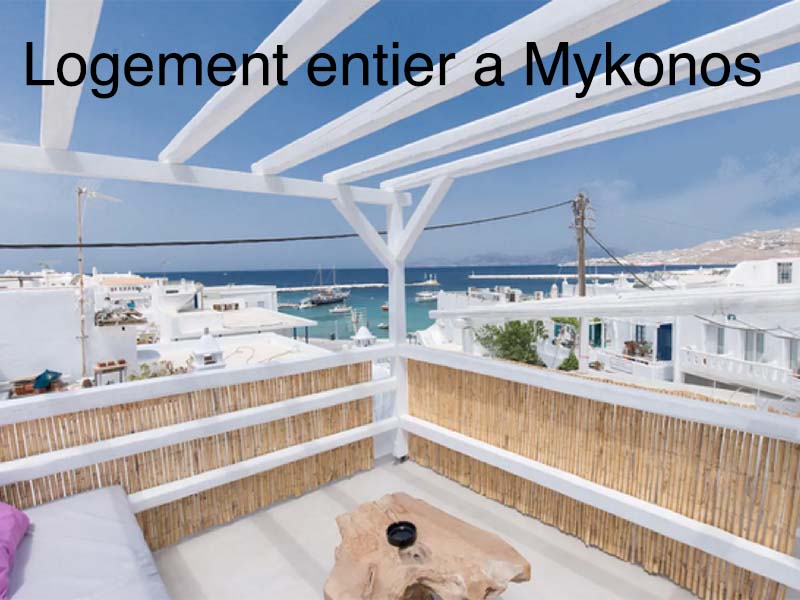 logement type à Mykonos airbnb