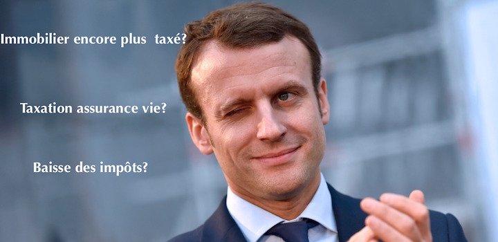 Macron président : taxation immobilier en avant!