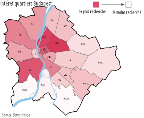 meilleurs quartiers appartement budapest