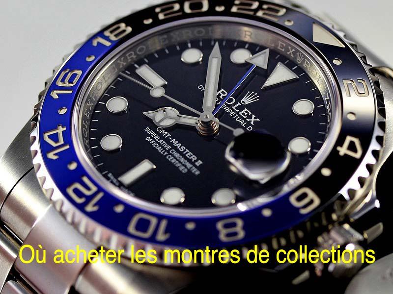 où acheter les montres de collections