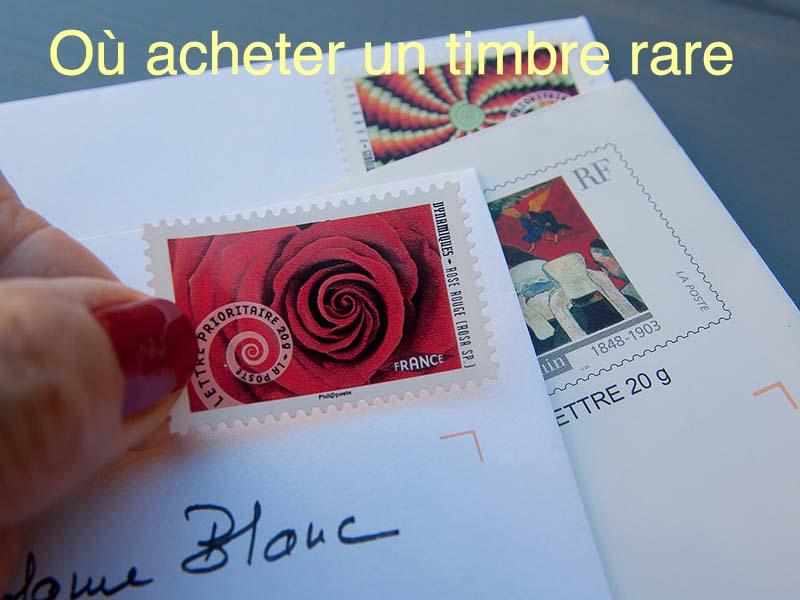 où acheter timbre rare