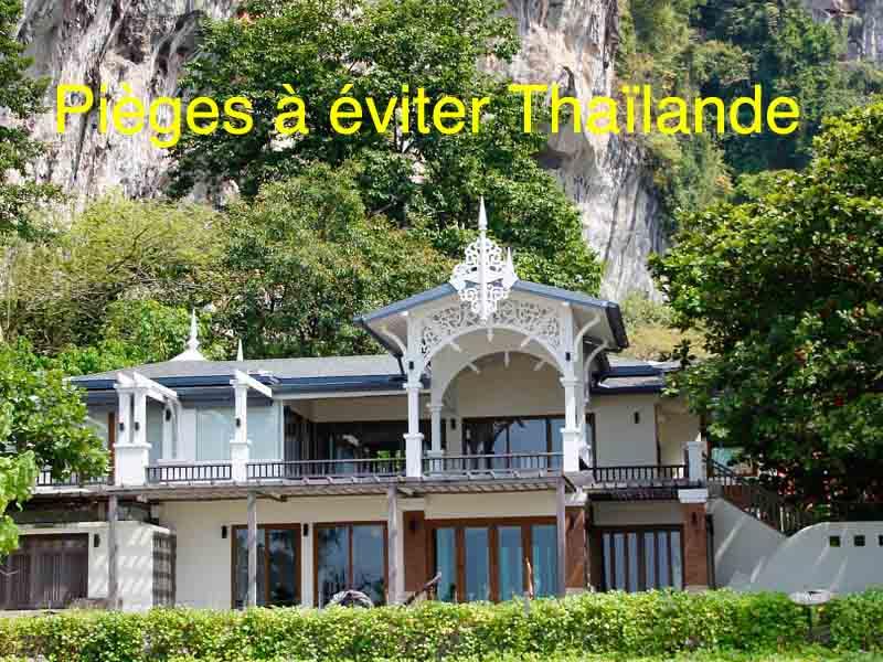 pièges à éviter thailande