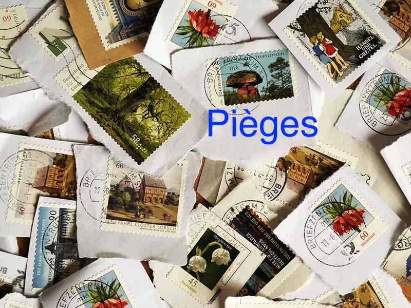 pièges achat timbre rare