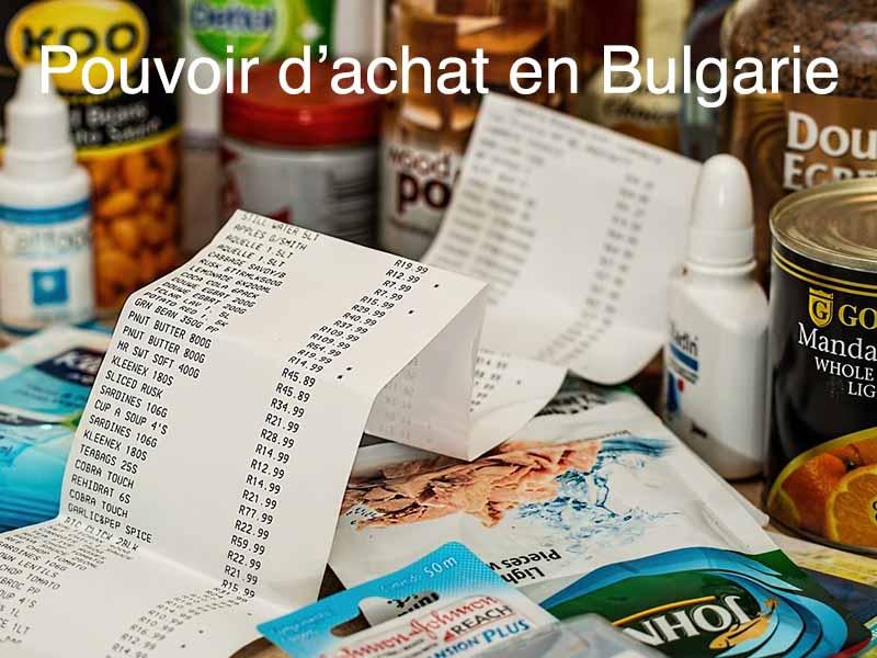 pouvoir d'achat bulgarie