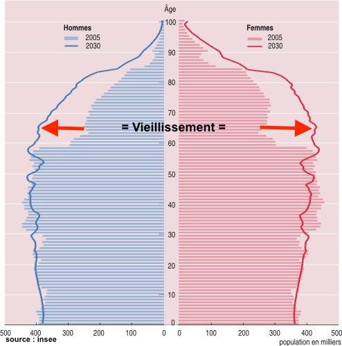 prévision pyramide des âges France