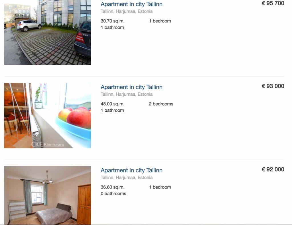 prix appartement tallinn