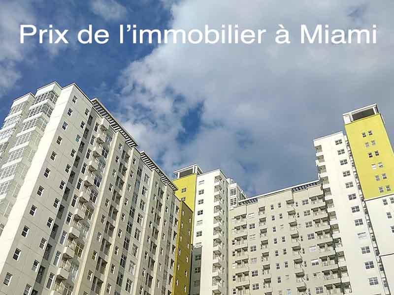 prix immobilier Miami