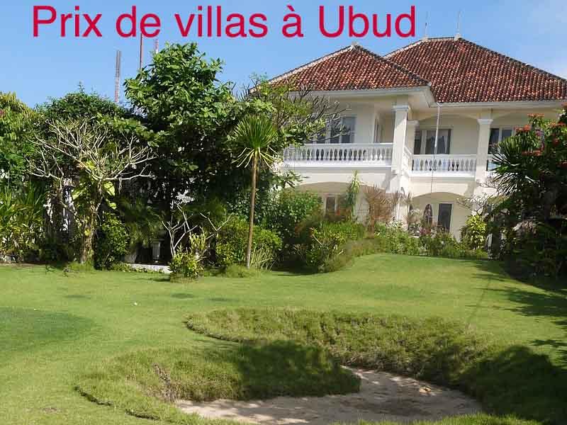 prix villas ubud bali