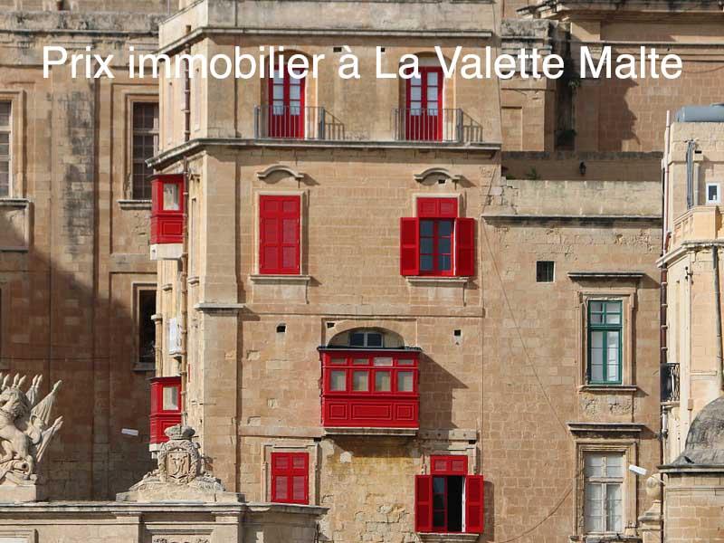prix immobilier Valette Malte