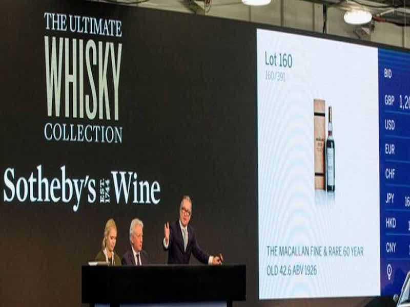 record prix enchères whisky macallan