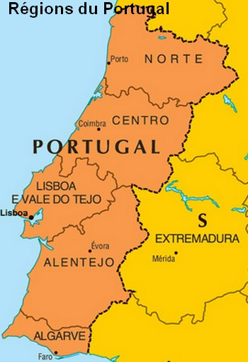 regions du portugal