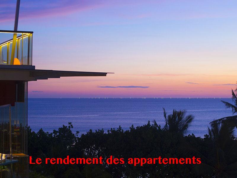 rendement appartement bali