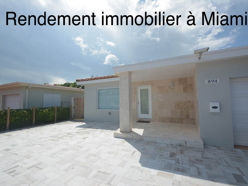rendement immobilier Miami