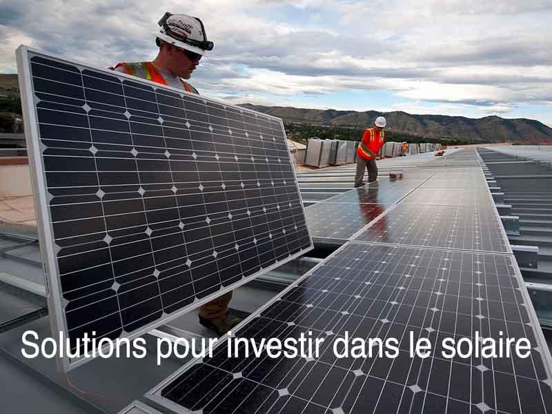 solution investir solaire
