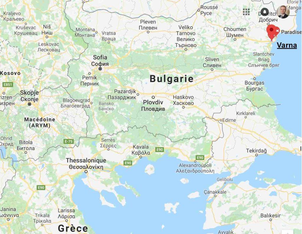 varna position géographique