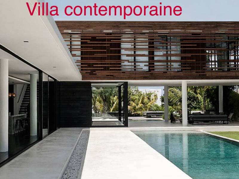 villa contemporaine bali