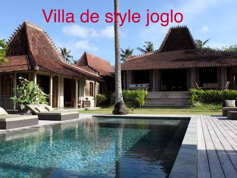 villa de style joglo
