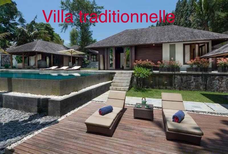 villa traditionnelle bali