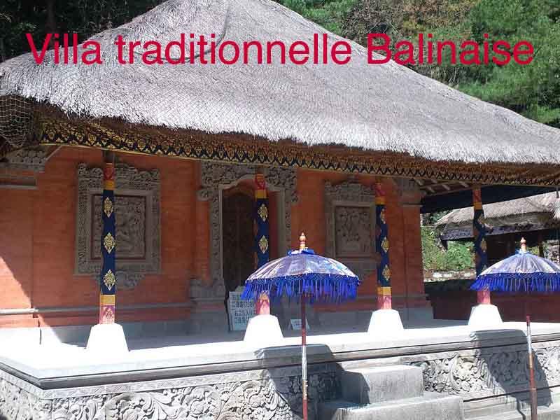 villa traditionnelle balinaise